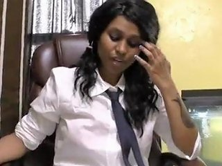 India Virgin School Girl Lily Talking In Hindi About